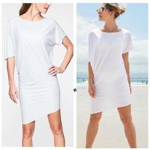 Athleta Sunlover Hilo UPF White Coverup Dress